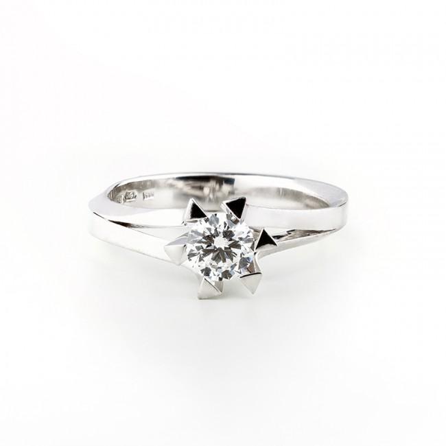 227872166 Zásnubný dámsky briliantový prsteň v bielom zlate Au 585/000