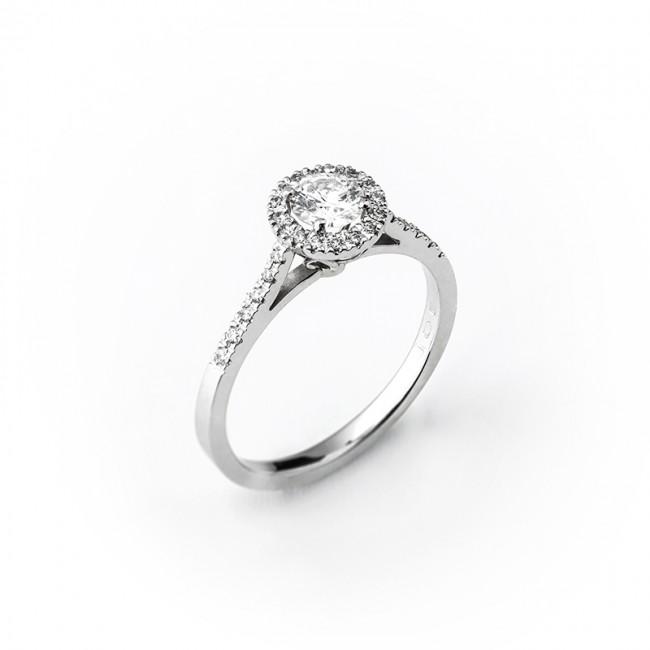 95574540a Dámsky briliantový prsteň v bielom zlate - ZLATOKOV