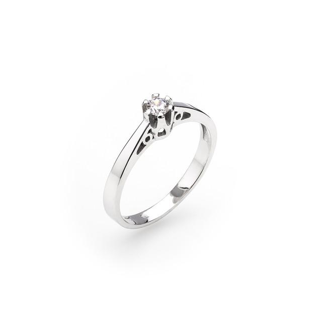 Dámsky zásnubný prsteň so syntetickým zirkónom - ZLATOKOV 7d64f5ffb69