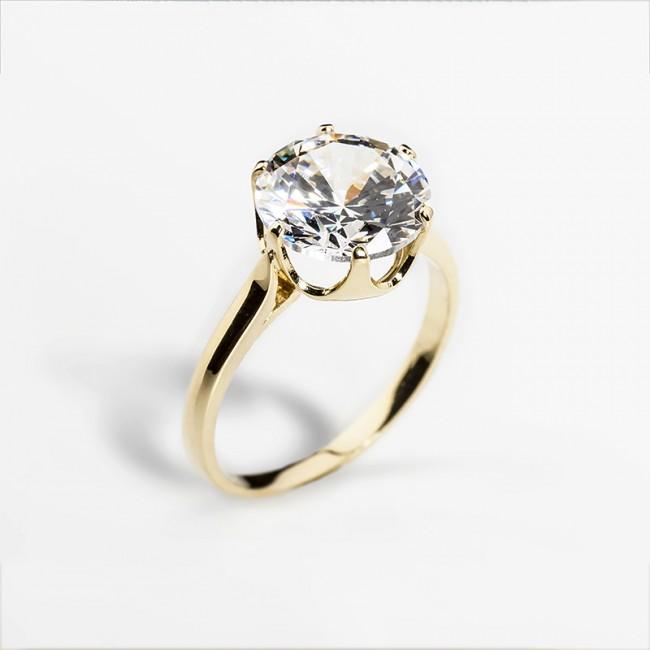 Dámsky zásnubný prsteň so syntetickým zirkónom - ZLATOKOV 33436c1ef94