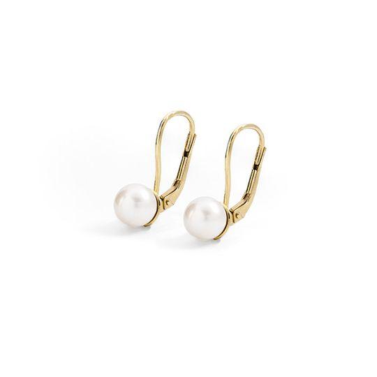 Dámske náušnice so sladkovodnými perlami