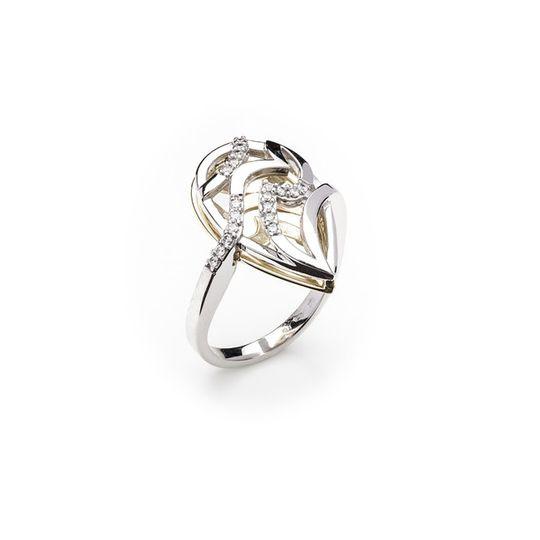 Dámsky prsteň so syntetickými zirkónmi