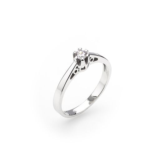 Dámsky zásnubný prsteň so syntetickým zirkónom